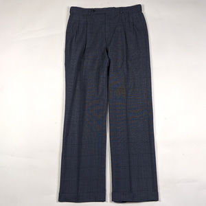 Burberrys Pleated Classic Fit 34 X 32 Navy Pants